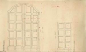 Mario Gigliucci's personal design of the front doors to the Villa Rossa. Source: Villa Rossa Archive.