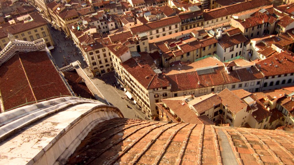 Florence city from the top of the Duomo