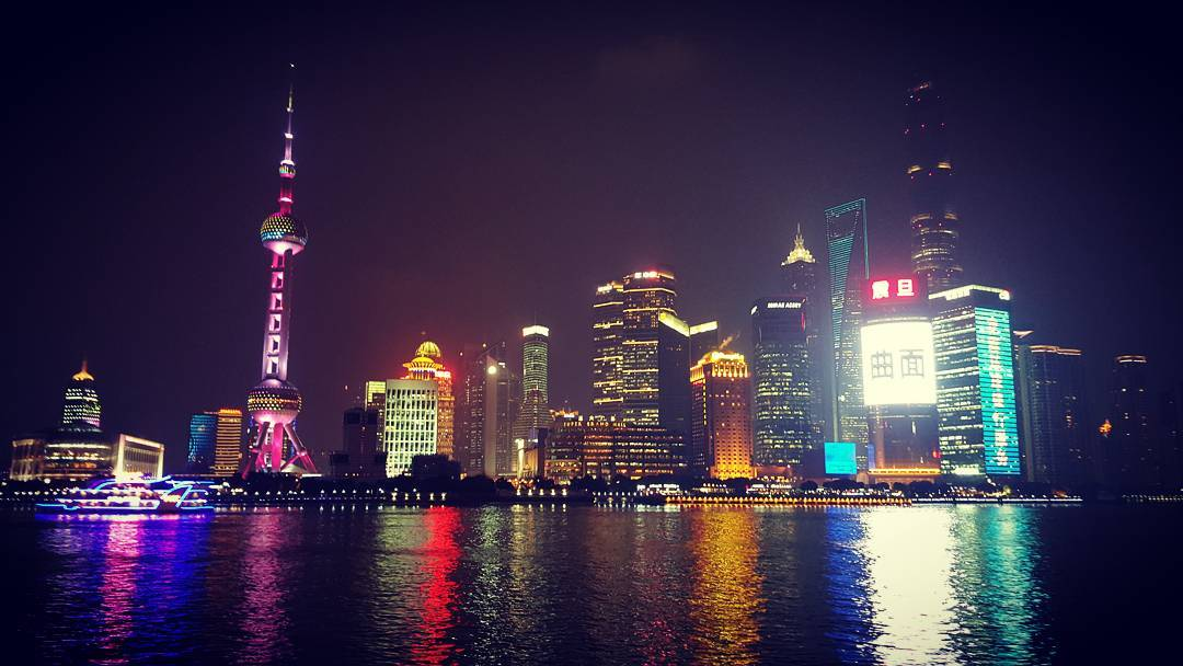 Pudong District in Shanghai