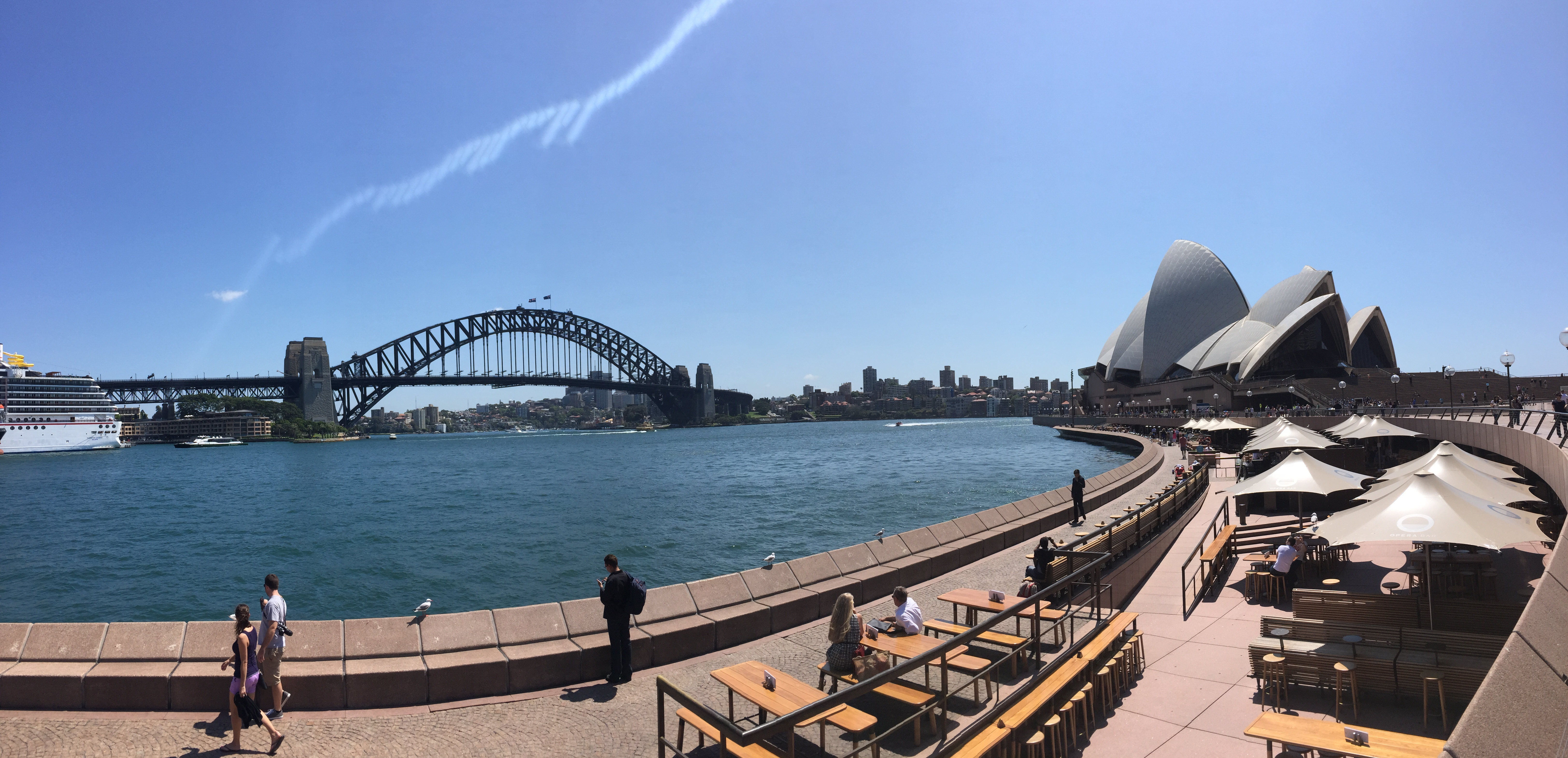 Panoramic view of the Sydney Opera House