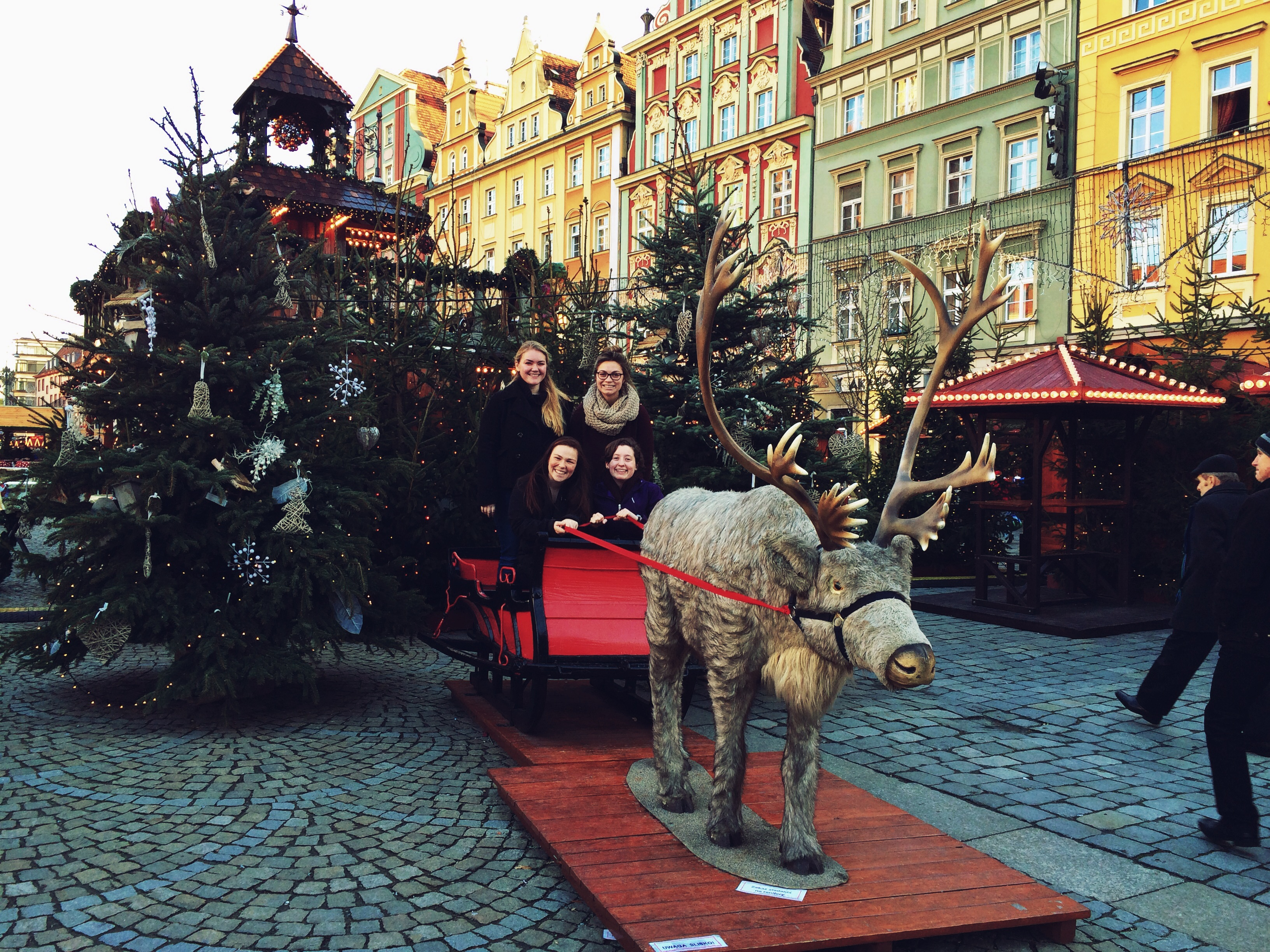 Students explore Wroclaw during the winter holidays