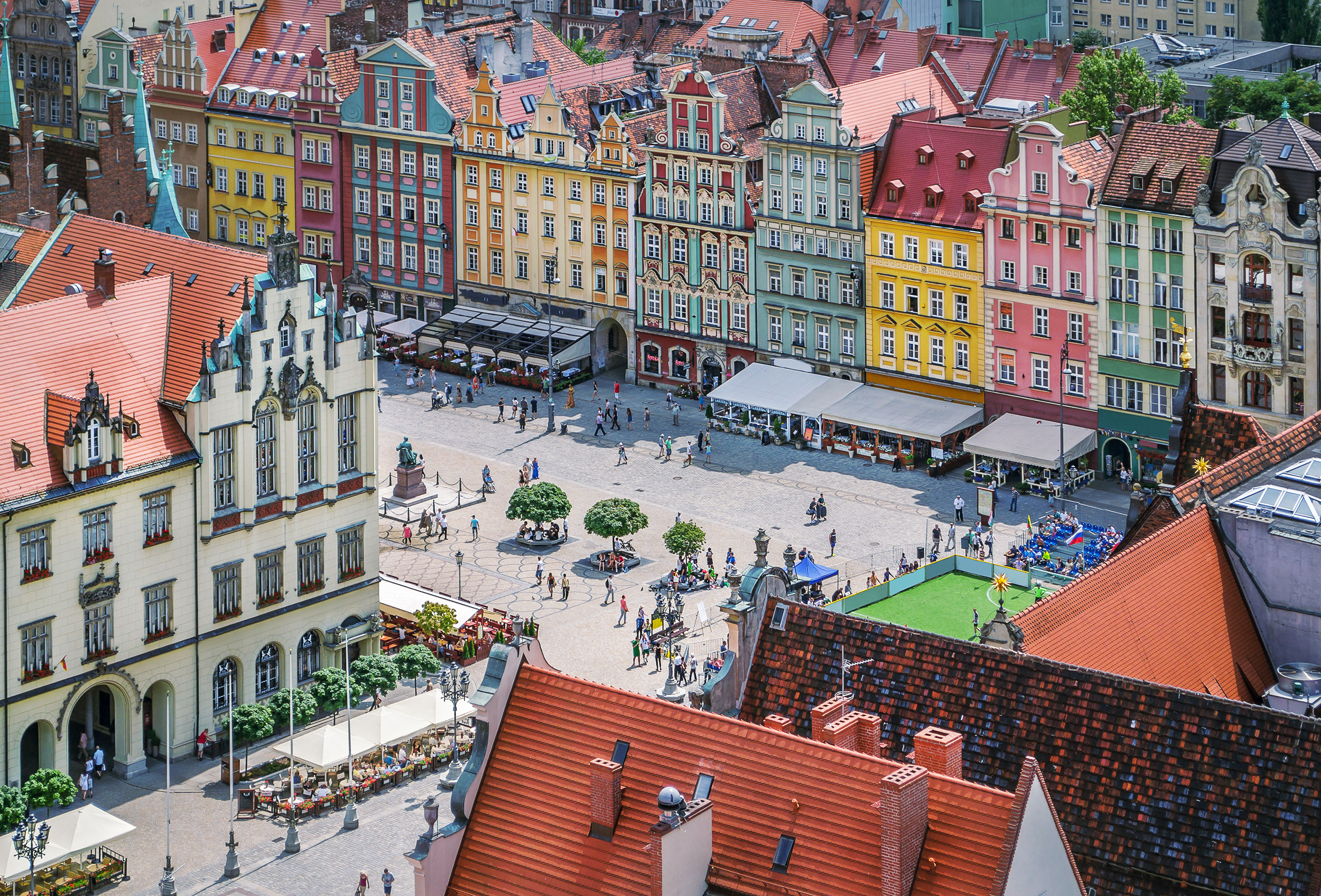 Town square in Wroclaw