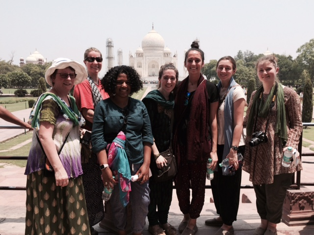 Group in front of Taj Mahal