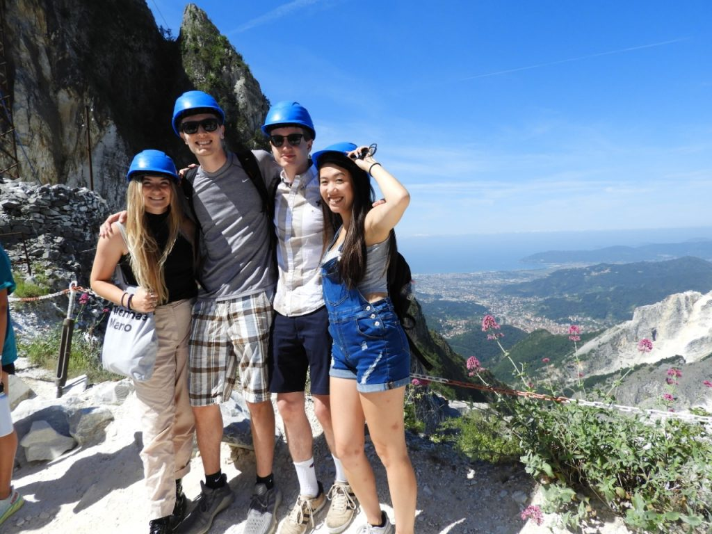 Baker and friends in Carrara
