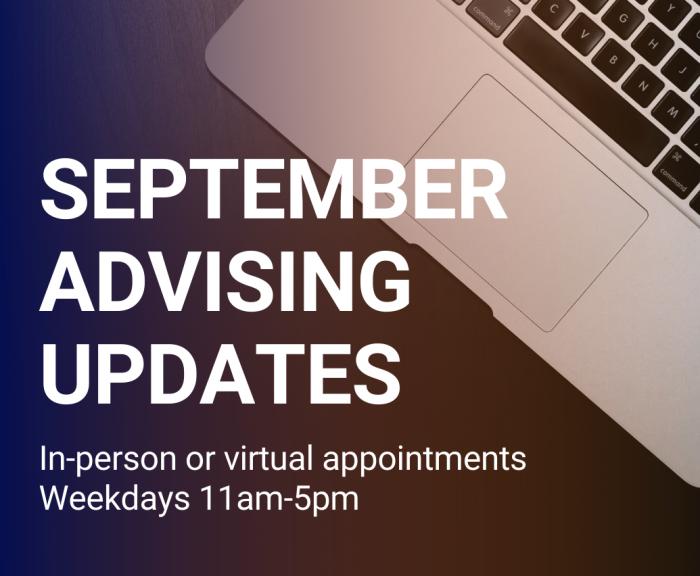 september advising updates